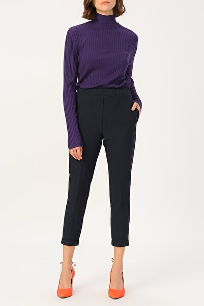 RANDOM Kadın Siyah Lastikli Yüksek Bel Pantolon