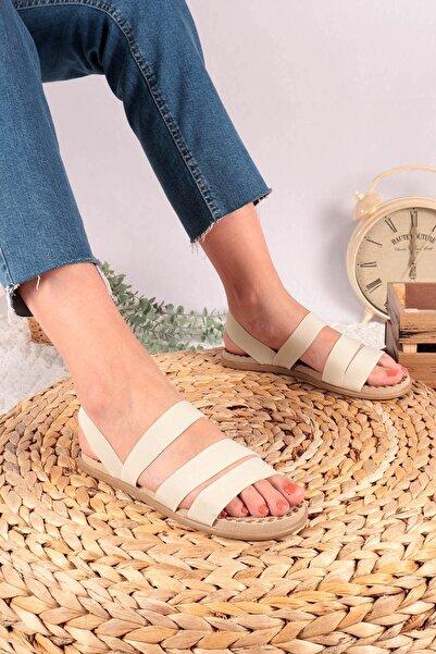 Hayalimdeki Ayakkabı Kadın Krem Sandalet