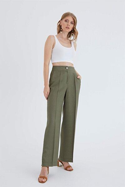 Chima Kadın Haki Bol Kesim Pantolon