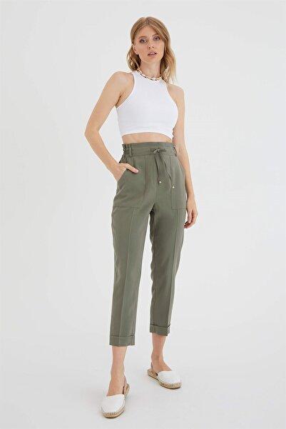 Chima Kadın Haki Bağcıklı Pantolon