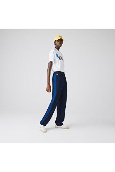 Lacoste Kadın Lacivert Çizgili Pantolon HF2463