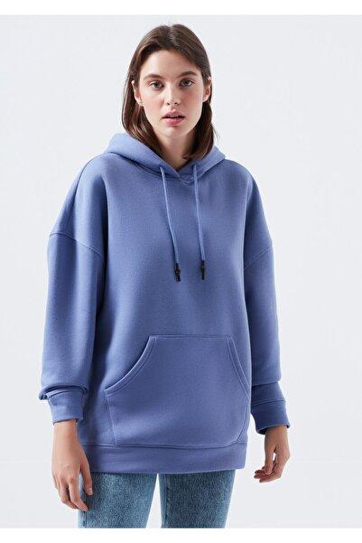 Mavi Kadın Mor Kapşonlu Sweatshirt
