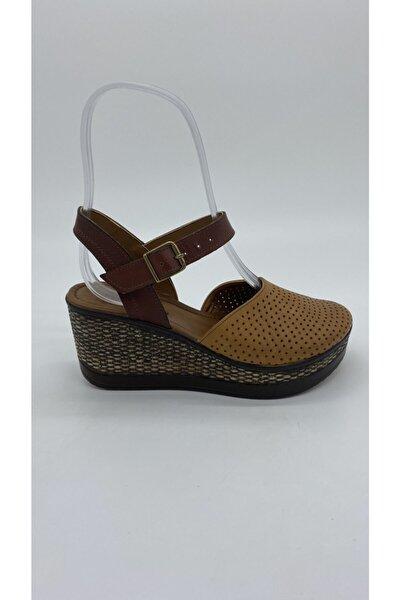Riccardo Colli Kadın Taba Deri Sandalet Z.2207