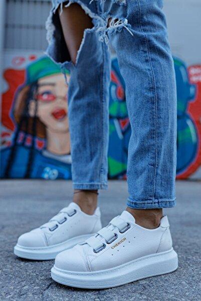 Chekich Kadın Beyaz Bantlı Sneaker Ch253