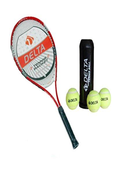 Delta 25 Inç Çocuk Tenis Raketi Tenis Maç Topu 3 Adet