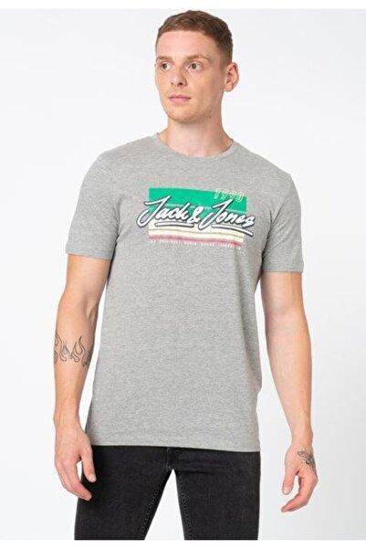 Jack & Jones Erkek Gri Jorcody Tişört