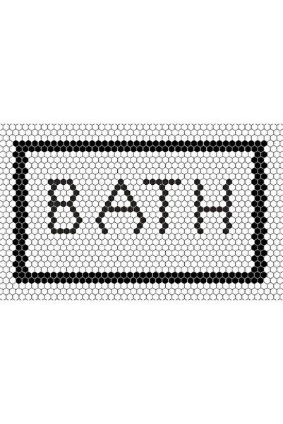 Missia Home Ekru Zemin Bath Yazılı Halı