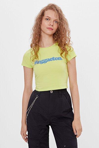 Bershka Kadın Sarı T-shirt