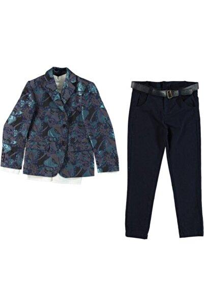 Monna Rosa Erkek Çocuk Lacivert Ceket Gömlek Pantolon Takım