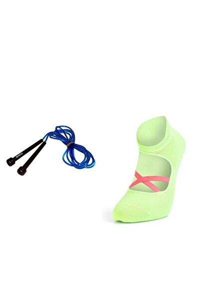 Delta Uzunluğu Ayarlanabilir Atlama Ipi Ve Murr Kaydırmaz Yoga Pilates Dans Egzersiz Çorabı