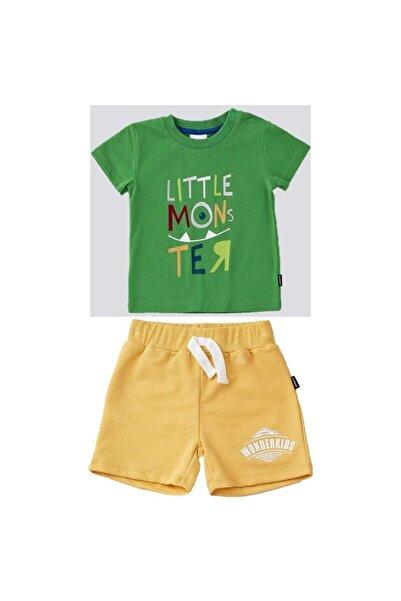 Wonder Kıds Wonder Kids Yeşil Şortlu Takım