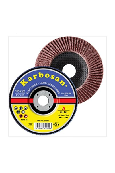 KARBOSAN 115 Mm 100 Kum Flap Disk Zımpara