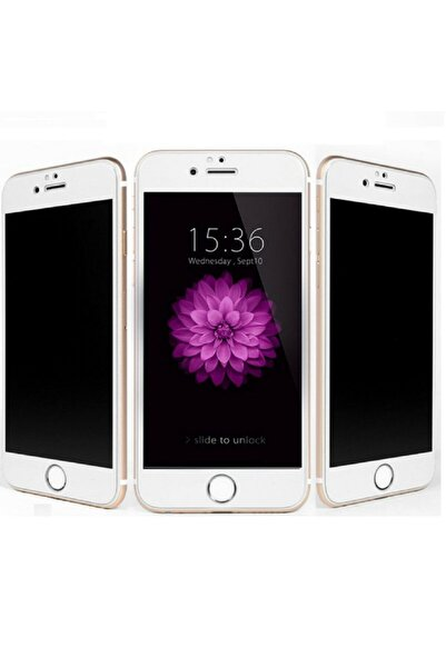 Iphone 6 Plus - 6s Plus Kavisli Gizlilik Filtreli Zengin Çarşım Hayalet Ekran Koruyucu Beyaz