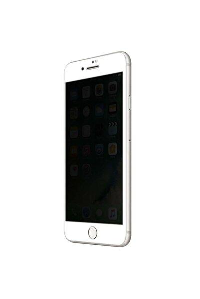 Iphone 7 Plus Kavisli Gizlilik Filtreli Zengin Çarşım Hayalet Ekran Koruyucu Beyaz
