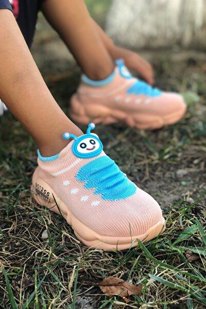 Çocuk Pembe Ortopedik Hafif Yumuşak Ayakkabı Spor