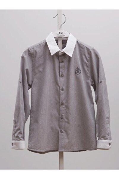 Monna Rosa Erkek Çocuk Beyaz Yaka Gömlek