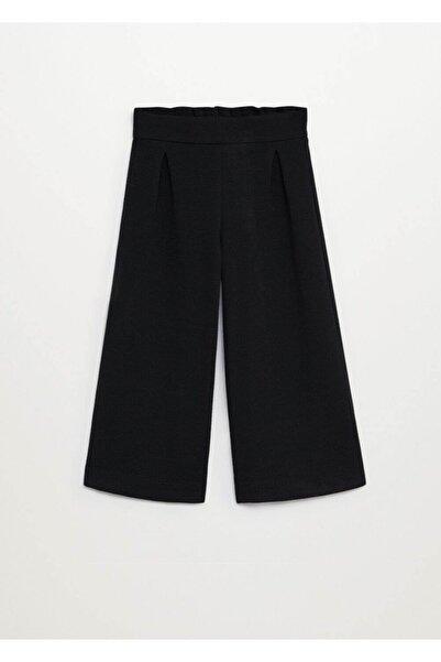 MANGO Kids Kız Çocuk Siyah Pantolon --