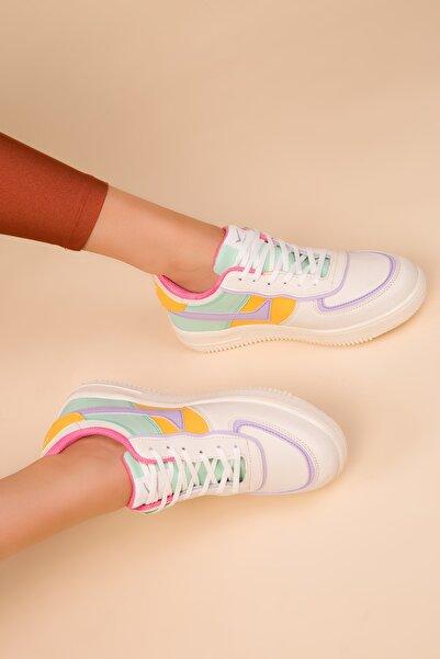 SOHO Bej-Renkli Kadın Sneaker 15278