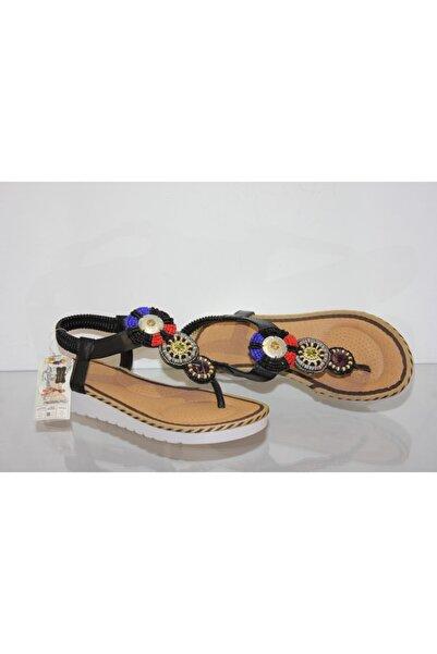 Guja Kadın Siyah Parmak Arası Sandalet Y136