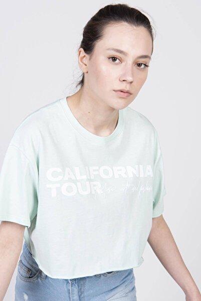Addax Basklı Kısa T-shirt P12125 - Y1