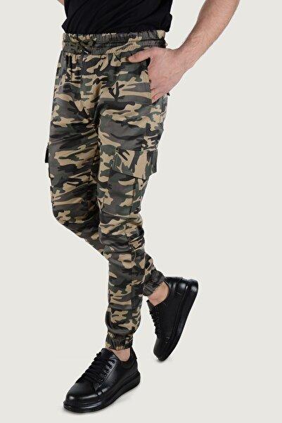 Terapi Men Erkek Haki Askeri Desenli Kargo Cep Pantolon 20K-2600026