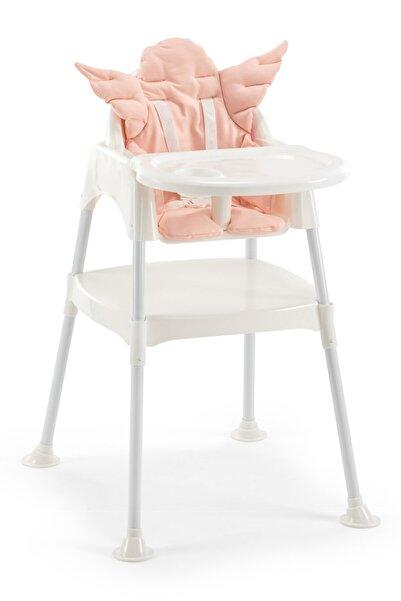Wellgro Unisex Çocuk Pembe Pedli Çalışma Masalı Mama Sandalyesi