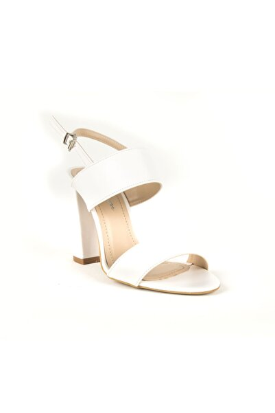 DİVUM Kadın Beyaz Topuklu Ayakkabı