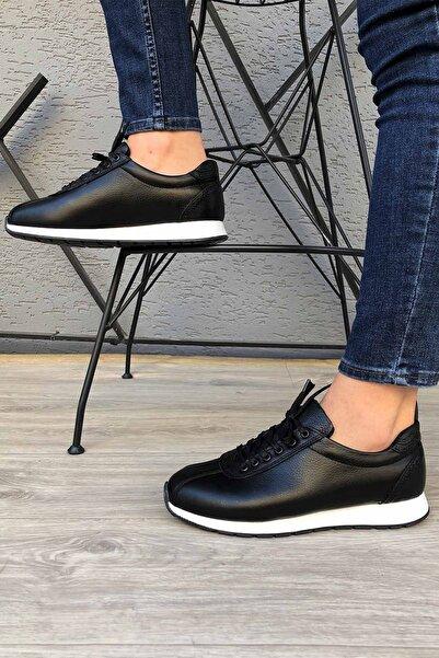 MUWAGO Hakiki Deri Günlük Siyah Erkek Ayakkabı Madm65corsat
