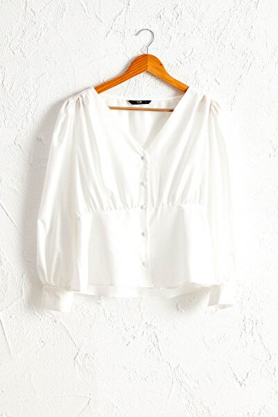 LC Waikiki Kadın Optik Beyaz Bluz 0WBG02Z8