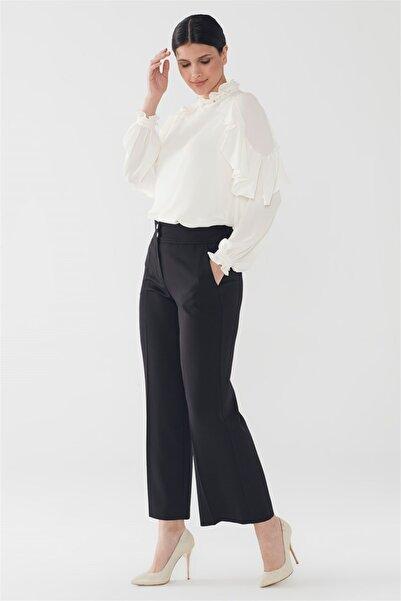Zühre Cep Detaylı Pantolon Siyah P-0104