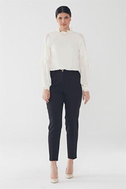 Zühre Cep Detaylı Pantolon Siyah P-0106