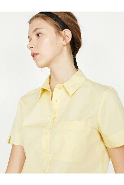 Kadın Sarı Gömlek 9KAL61346QW