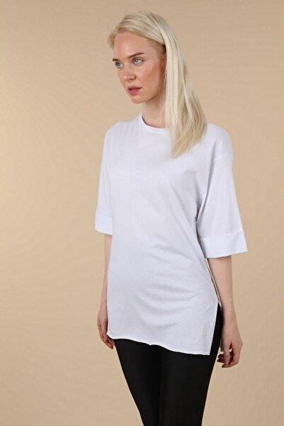 Oblavion Beyaz Duble Kol T-shirt