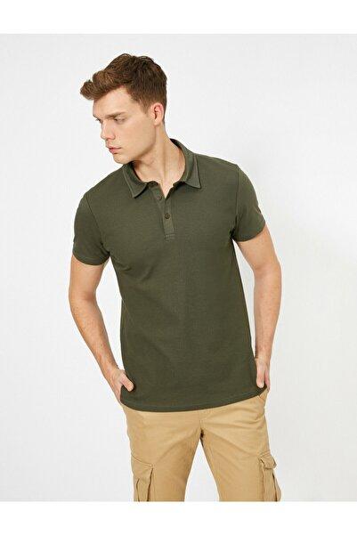 Koton Erkek Yeşil Polo Yaka T-Shirt