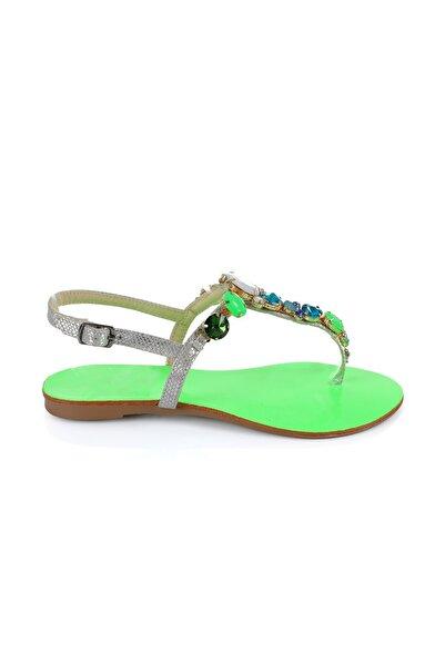Oblavion Rio Green Taşlı Sandalet