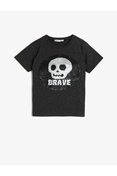 Koton Kids Erkek Çocuk Siyah T-Shirt