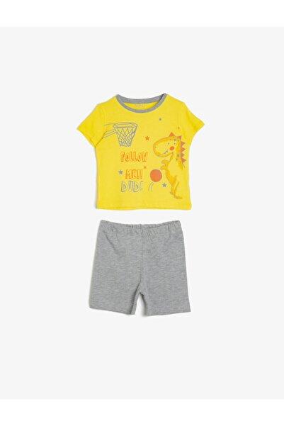 Koton Kids Sarı Erkek Bebek Takımları