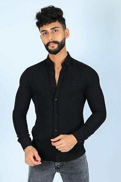 JİYAN Erkek Siyah Gömlek