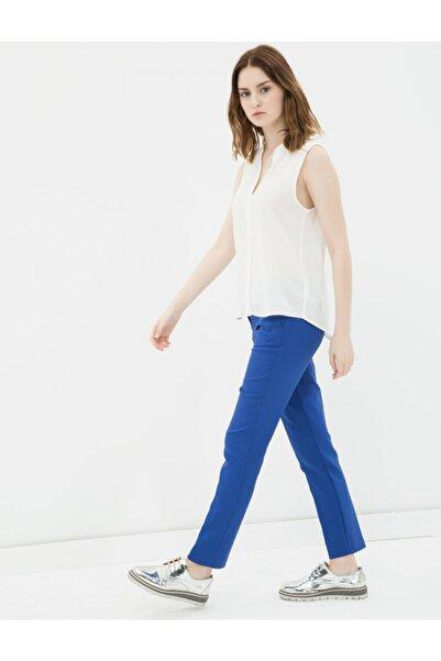 Koton Kadın Saks Normal Bel Pantolon 7KAK43813EW
