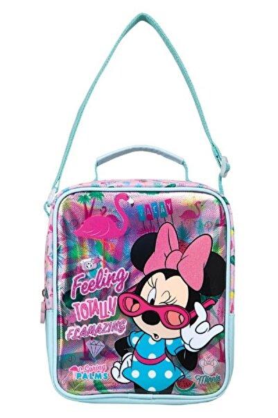 Frocx Minnie Mouse Pembe Lüks Ilkokul Beslenme Çantası - Kız Çocuk
