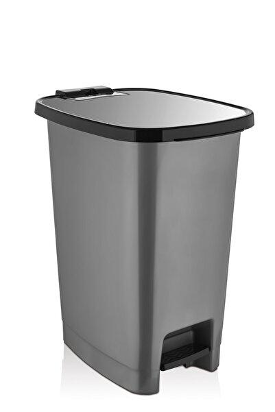 ASlife 25 Lt Slim Pedallı Çöp Kovası Metalik