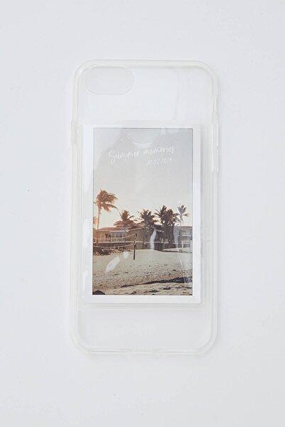 Pull & Bear Beyaz Şeffaf Cep Telefonu Kılıfı 09971318