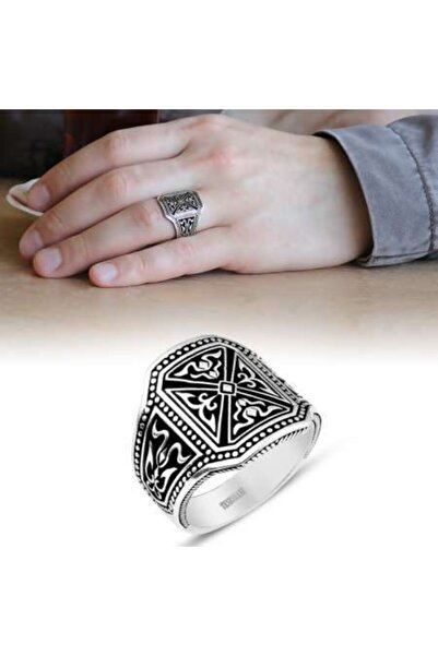 Tesbihname 925 Ayar Gümüş Pusat Yüzüğü