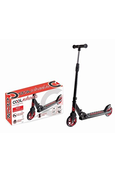 Cool Wheels Kırmızı Katlamalı 2 Tekerlekli Dev Teker Scooter (+8 Yaş)