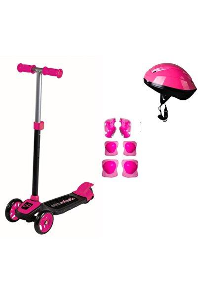 Cool Wheels 3 Tekerlekli Yükseklik Ayarlı Twistable Çocuk Scooter (+3 Yaş) + Kask + Dizlik Seti