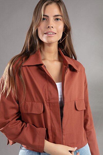 Y-London Kadın Gömlek Yaka Astarsız Kısa Ceket 30151