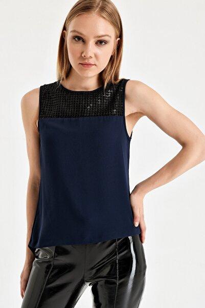 Armani Exchange Kadın Mavi Bluz