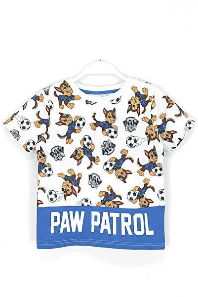 PAW PATROL Çocuk Beyaz Ön ve Arkası Chase Baskılı Tişört