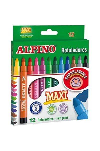 Alpıno Maxi 12 Renk Keçeli Kalem