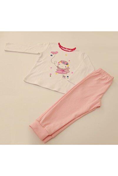 MYMOSA Kız Bebek Pembe Dandini Pijama Takım